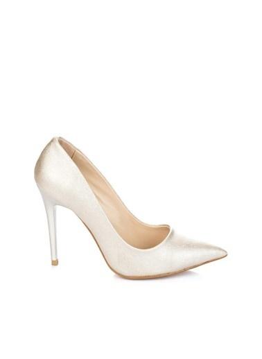 Pembe Potin A1770-17 Kadın Klasik Topuk Ayakkabı A1770-17 Gümüş